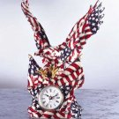 Eagle and Flag Clock