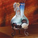 Buffalo Design Vase on Stand