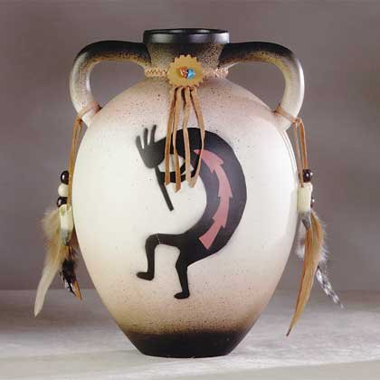 Kokopelli Ceramic Jug