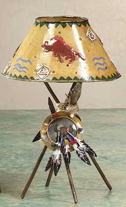 Metal Southwest Candle Lamp