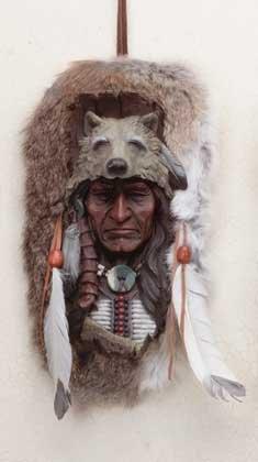 Wolf Headdress Plaque
