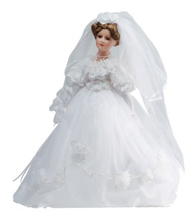 "20"" Porcelain Bride Doll - Sarah"
