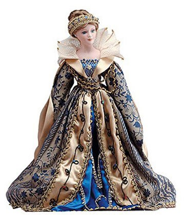 "22"" Porcelain Doll - Queen Guinevere"
