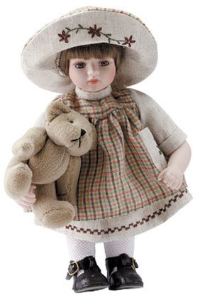 "11"" Porcelain Girl Doll - Hannah"