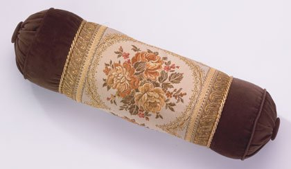 Brown Velvet Bolster