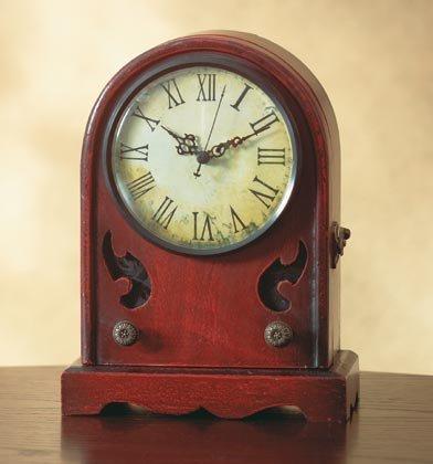 Antique-Like Radio Clock-Key Cabinet