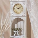 La Cote D Azur Wood Wall Clock-Shelf