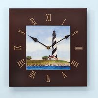 Lighthouse Tile Wall Clock