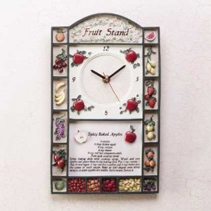 Fruit Stand Wall Clock
