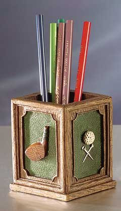 Golf Club and Ball Pen Holder