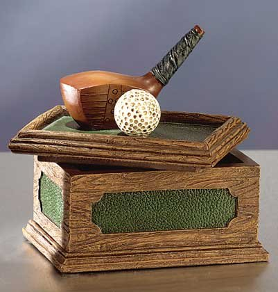 Golf Club and Ball Desk Box