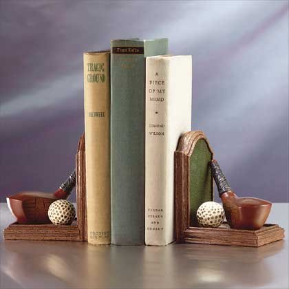 Golf Desk Book Ends