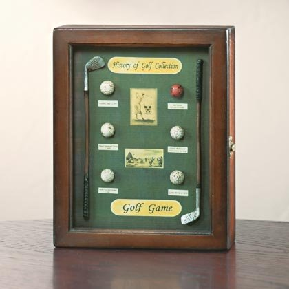 GOLF WOOD SHADOWBOX BOX