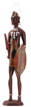 Masaai Warrior With Shield