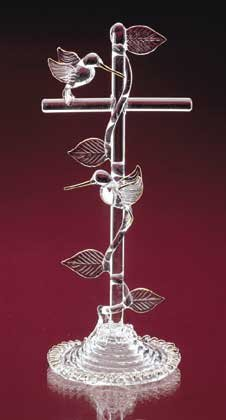 Hummingbirds On Cross