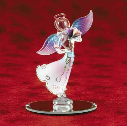 Angel Holding Rose