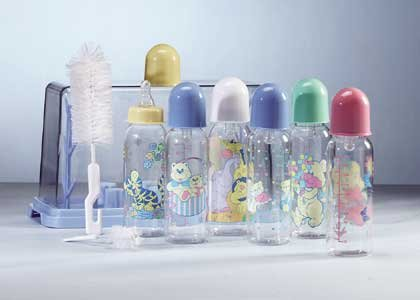 Blue Baby Bottle Gift Set