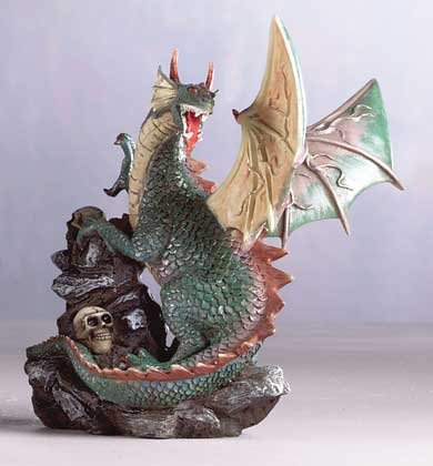 Dragon & Skulls On Rocks
