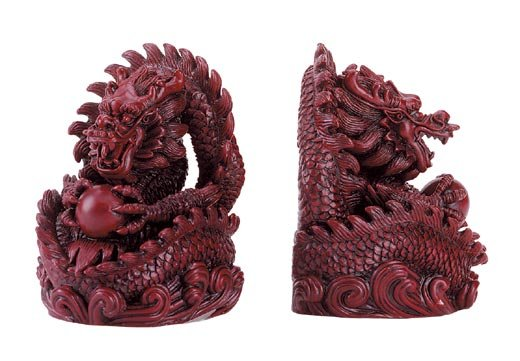 Hong Tze Dragon Bookends