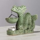 Glazed Porcelain Dragon Oil Warmer