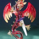 Red Glass Dragon with Sword