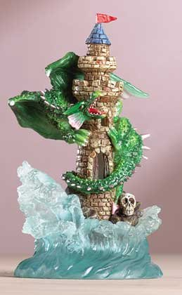 Dragon and Castle on Waves