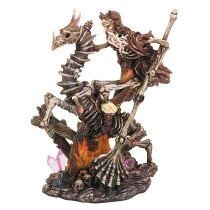 Skeletal Merlin and Dragon