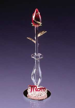 Mom-Sculptured Glass Rose