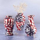 Mini American Flag Patchwork Vases