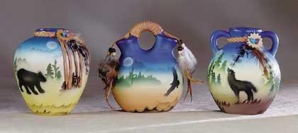 Ceramic Southwest Mini-Vases (Set of 3)