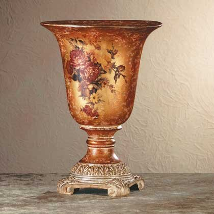 Porcelain Antique-Finish Rose Vase