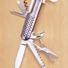Stainless Steel 10-Function Pocketknife