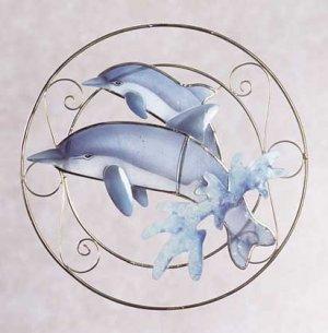 Dolphins Suncatcher Plaque