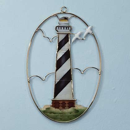 Capiz Shell Lighthouse Suncatcher