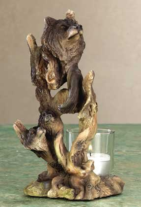 Wolf Spirit Candle Holder