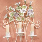 Metal Flower Wall Sconce Candle Holder