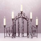 Wrought Iron Fence 5-Candle Holder