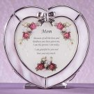 """Heart-Shaped """"Mother"""" Plaque and Candle Holder"""