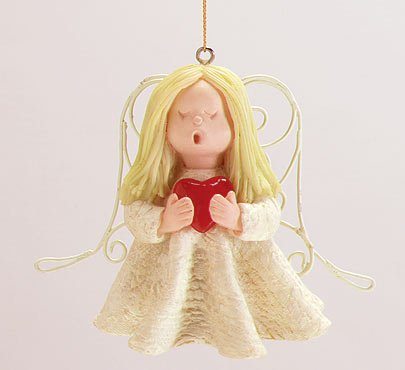 Angels with Hearts Ornaments