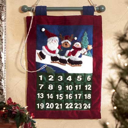 Plush Christmas Hanging Calendar