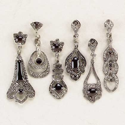 Faux Marcasite Earrings Assorted
