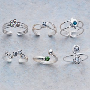 Cubic Zirconia Toe Rings