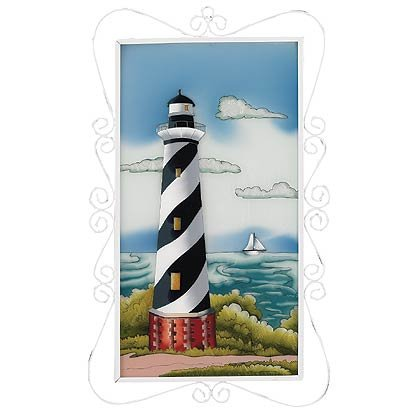 Serene Lighthouse Plaque