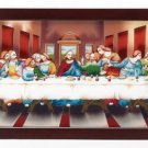 Painted Glass Last Supper