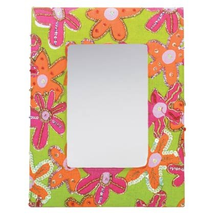 Floral Framed Mirror