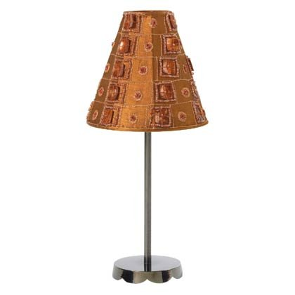 Brown Satin Lamp