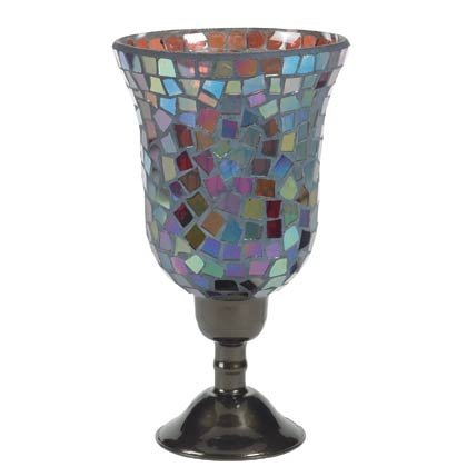 Mosaic Hurricane Lamp