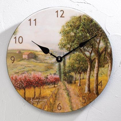 Tuscan Country Clock