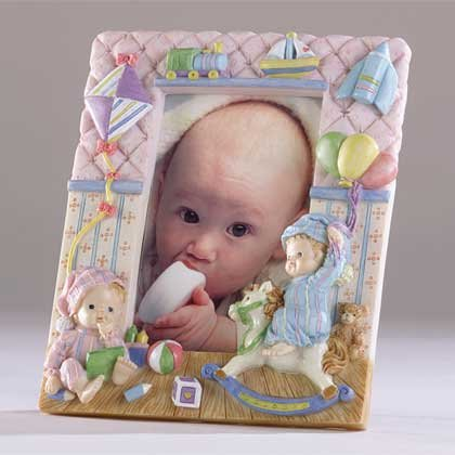 Picture Frame With 2 Children