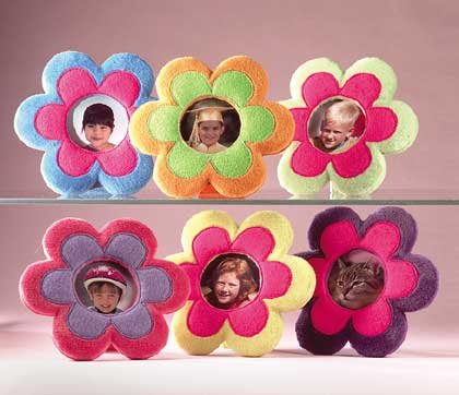 Plush Flower 3x3 Photo Frames